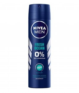 NIVEA MEN DEO SPRAY FRESH OCEAN 0% ALUMINIUM SALTS 150ML
