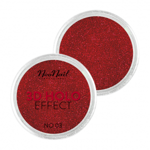 NEONAIL PUDER 3D HOLO EFFECT RED 03 5329-3