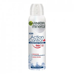 GARNIER MINERAL DEO SPRAY 150ML ACTION CONTROL CLINICALLY