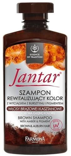 FARMONA JANTAR SZAMPON REWITALIZUJĄCY KOLOR WŁOSY BRĄZOWE I KASZTANOWE 330ML Drogeria Wena